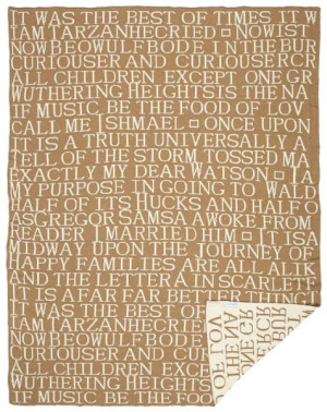 Famous Literary Quotes Throw