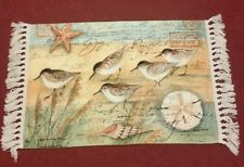 ... Birds Seashell Sand Dollar Star Fish Inspirational Quotes Floor Mat