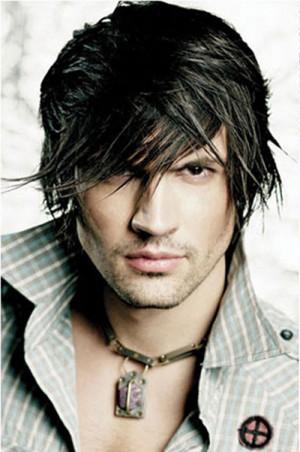 ... straight hair Trendy mens medium hairstyle Trendy mens short hairstyle