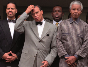 ... meeting with Louis Farrakhan, leader of the Nation of Islam in 1996