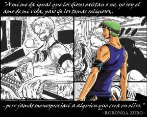 Tags: Anime, ONE PIECE, Roronoa Zoro, Quote, Spanish Text