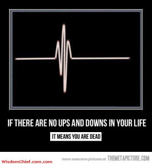 If There Are No Ups And Downs In Your Life Very Nice Quote Picture