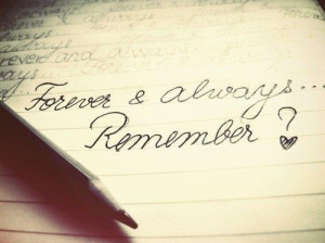 Forever and always – Quote