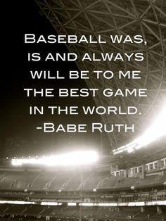 Baseball Softball, Baseball Quotes, Basebal Quotes Babes Ruth, Babe ...