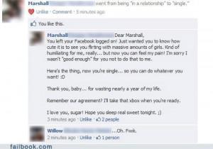 Facebook Fails Caught Cheating