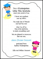 Preschool Graduation Announcements - Kindergarten Graduating ...