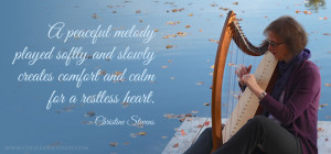 peaceful melody played softly and slowly creates comfort and calm ...