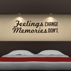 Home / Feelings Change Wall Sticker Quote Wall Art