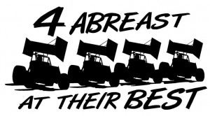 Sprint Car Racing Sayings 4 abreast sprint cars (small).jpg