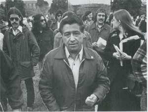 is Cesar Chavez Day. Chavez is seen here visiting Colegio Cesar Chavez ...