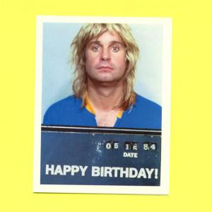 Ozzy Osbourne - Funny Birthday Card - Adult Funny Birthday Card - Ozzy ...