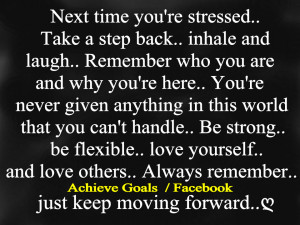Next time you're stressed...take a step back,,