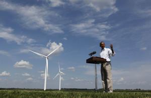 President Obama talks to the media on the Heil Family Farm in ...