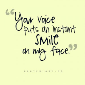 smile, text, your voice