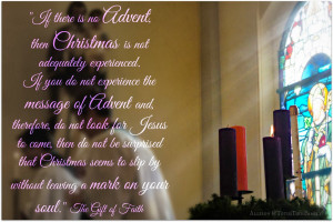 Advent is here and the first candle has been lit.