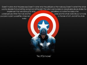 Captain America Wallpaper 1440x1080 Captain, America, Quotes, Marvel ...