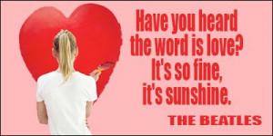 Love quote #beatles