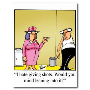 Funny Medical Cartoon Postcard