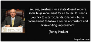 More Sonny Perdue Quotes