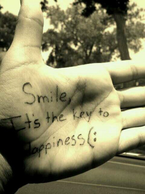 cute, love, pretty, quote, quotes, smile key happiness, smile to be ...