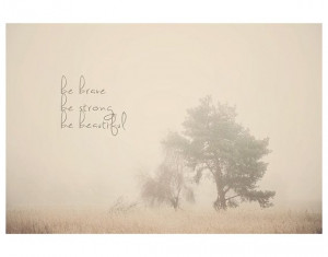 winter fog tree inspirational quote color photo print - whimsical fine ...