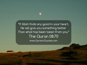 113 The Quran 08:70 (Surah al-Anfal) | Quranic Quotes