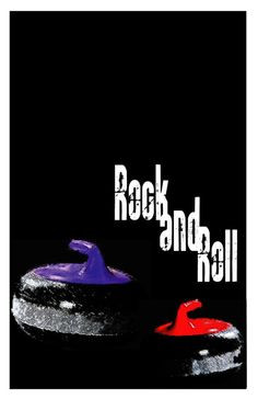Rock and Roll Curling 11 x17 Poster by RedToque on Etsy, $6.00 More