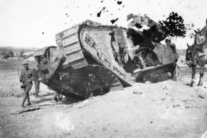 destroyed WW1 British Tank Image