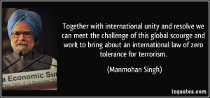Together with international unity and resolve we can meet the ...