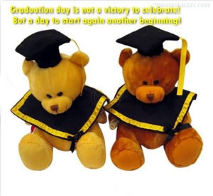 Cute teddy bear with an inspiring quote.