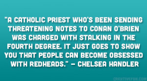 Catholic priest who's been sending threatening notes to Conan O ...