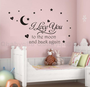 ... -to-moon-Wall-quote-decals-Removable-stickers-decor-kids-nursery-art