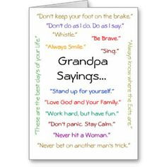 Quotes About Fishing with Grandpa   Grandpa Sayings Cards, Grandpa ...