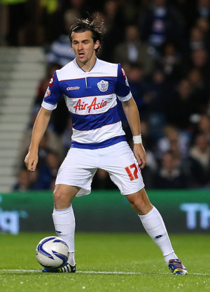 Joey Barton Joey Barton of QPR wears rainbow coloured shoe laces as