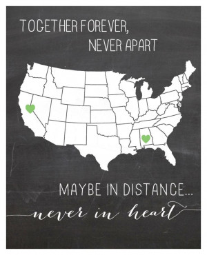 ... CUSTOM Long distance relationship love quote print 8×10. $22.00, via