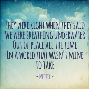 Breathing Underwater - Metric: Islam Quotes, Reader Life, Quotes ...