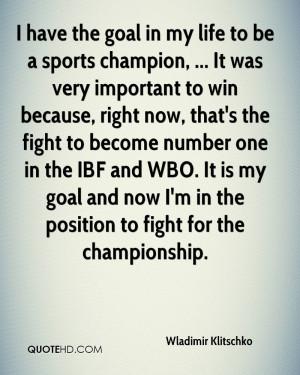Wladimir Klitschko Quotes