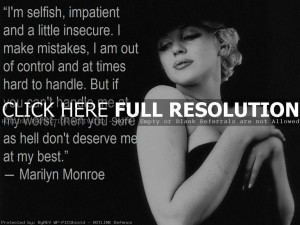 Marilyn Monroe Quotes and Sayings, wise, cute, deep