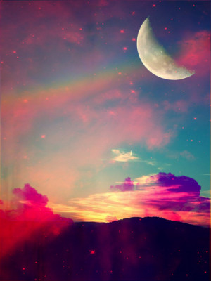 trippy moon psychedelic galaxy stars colors angels and airwaves ...