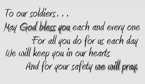 Prayer for our service men and women.