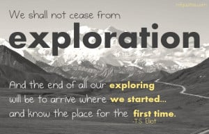 Quote about exploration by T.S. Eliot