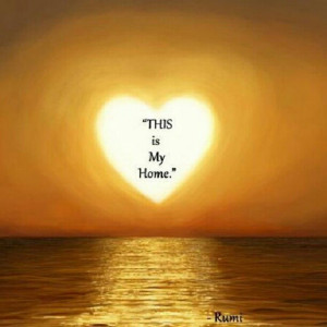 ... photo is from the Rumi Facebook Page]. #heart #sunset #quotes