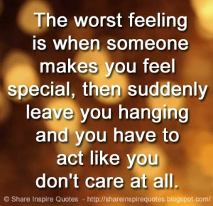 ... care at all. | Share Inspire Quotes - Inspiring Quotes | Love Quotes