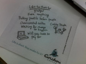 Caribou Coffee - Small Quotes