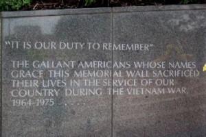 Vietnam War Veterans Memorial Wall