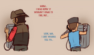... comic Nutty's Fanart call Sniper team fortress 2 tf2 scout sniperscout