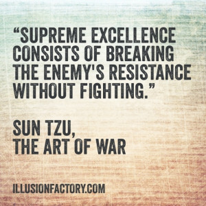 ... of breaking the enemy's resistance without fighting.