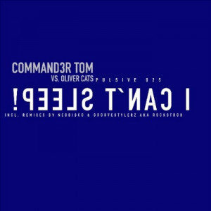 COMMANDER TOM vs OLIVER CATS - I can't sleep! (Front Cover)