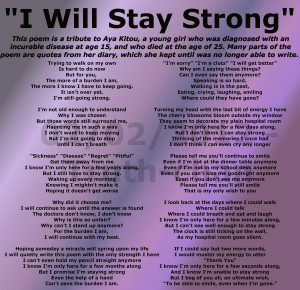 Staying Strong Poems