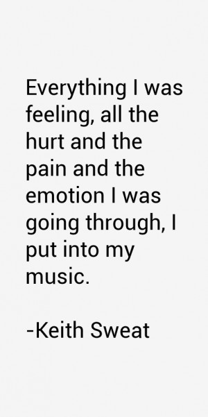 Everything I was feeling, all the hurt and the pain and the emotion I ...